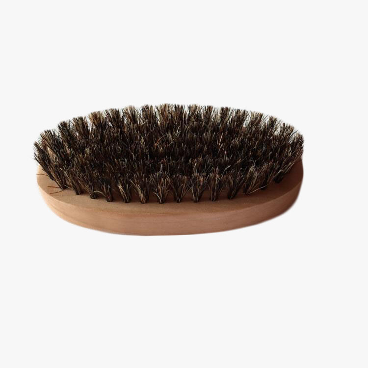 FQ brand wholesale private label oval custom wooden boar bristle beard brush