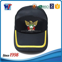 Black making machine baseball cap leather baseball hat with metal clasp