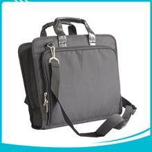 2017 New design polyester PU leather handle laptop computer bag