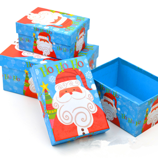 Custom printed wire decorative christmas gift boxes with lids