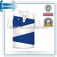 polyester white and blue color polo t shirts