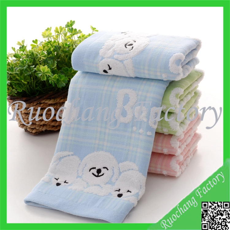 Cute Panda Printed Children Face Towel Square Spa Bath Towel