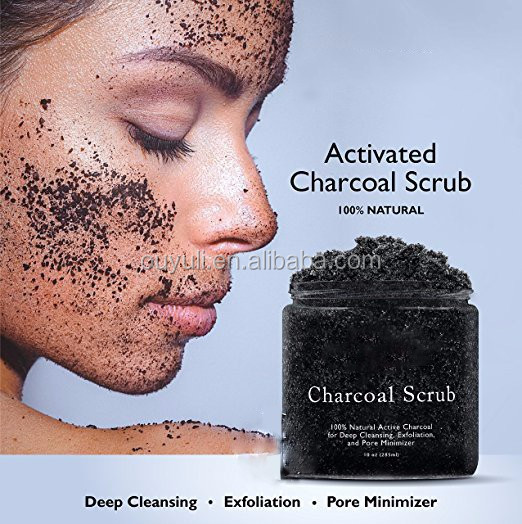 Activated Charcoal Scrub For Deep Cleansing & Exfoliation/ Pore Minimizer & Reduces Wrinkles& Acne
