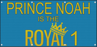 Prince Boy Is The Royal 1! Birthday Custom MESH Windproof Fence Banner Sign w/ Grommets 5 Ft x 10 Ft