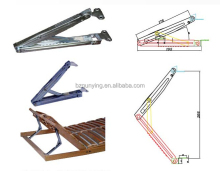 Lift top working drafting table locking hinge, adjustable folding student desk lifting hinge