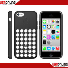 cheap original style polka dot hole color case for iphone 5c case silicone phone case
