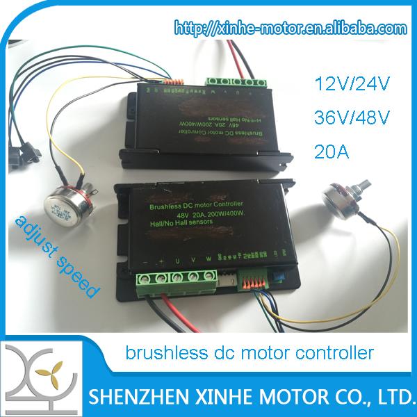 12v 24v 36v 48v 200w 400w 500w Brushless Dc Motor