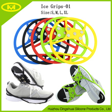 Wholesale Multiple Colour Silicone Unisex Ice Grips Ice Cleats For High Heel Shoes Anti Slip Crampon