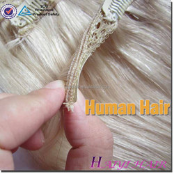 Double Drawn Very Thick Remy Hair human hair extensions clip double weft
