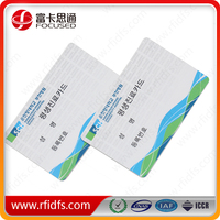 custom credit card size em4200 rfid smart card