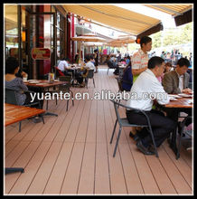 Terrace cover for restaurant,WPC deck/floor for outdoor using