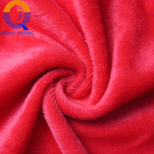 2017 hot sale soft fleece knit fabric 100% polyester thermal underwear velvet for keep warm in winter