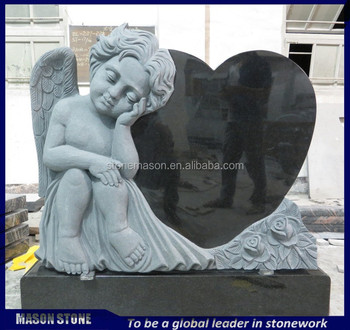 2017 Best seller heart shaped angel headstones for sale