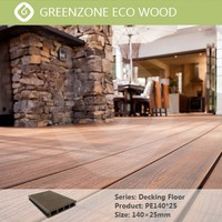 Easy and quick installation wpc flooring outdoor waterproof composite wood decking