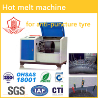 Hot melt glue machine for anti-puncture tyre