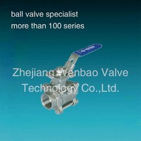 3PC Socked Weld 3 Inch Stainless Steel Ball Valve with ISO 5211 direct mount pad with lever PN64