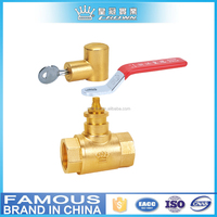 "7005 DN25 1""brass female handle ball valve with lock"