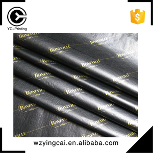 Factory price good black clothing imprinted gold foil wrap tissue paper