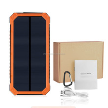 Solar Charger,15000mAh Portable Power Bank External Battery with Fast Charge 2-Port Dual USB Backup Battery Pack (Orange)