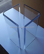 Clear Acrylic table base leg, dining table base
