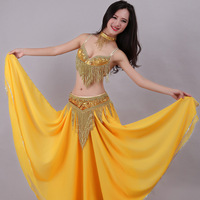 Glamour Sexy Woman Belly Dance Costume Indian Top Performance Bra Belt For Ladies 2 Pieces Belly Dancing Without Costume ZH1273