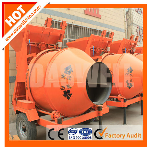 electric power self-loading drum concrete mixer with lifting hopper
