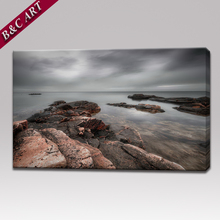 Washable Canvas Prints Seaside Landscape Painting for Living Room Wall Decoration
