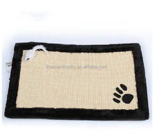 cat scratching board pet toys nature linen material