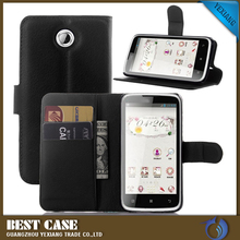 for lenovo a516 case, Litchi Design Credit Card Wallet Stand Flip leather case for Lenovo A516