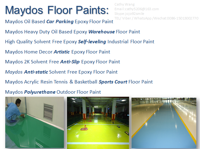Maydos Heavy Dust scratch resistant Resistance Epoxy warehouse Flooring coating /guangdong