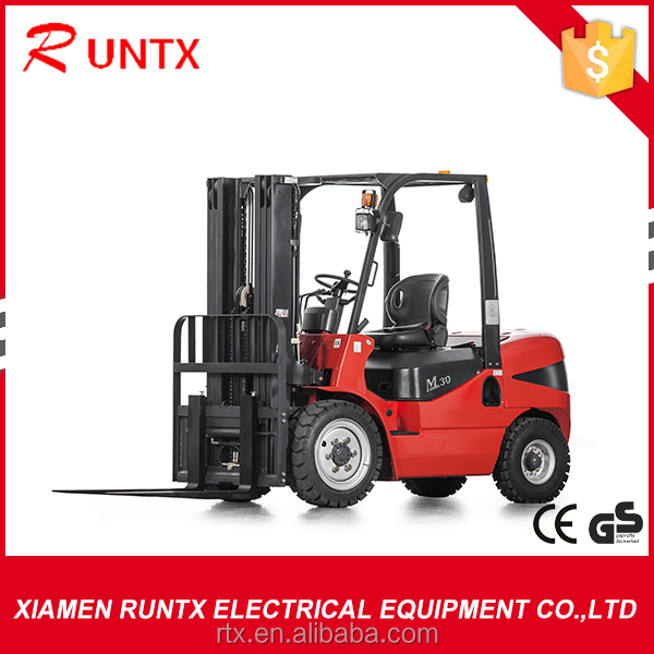 3t diesel forklift with 3-stage mast