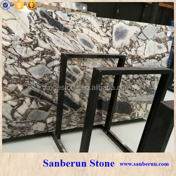 Chinese white marble with black veins
