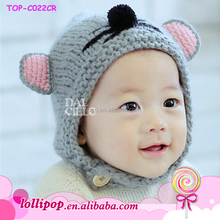 Cute crochet animal pattern infant baby girl hat knitting machine for wool hat
