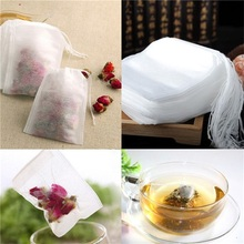 Manufacture Customer Clear White Non-woven Fabric Empty Tea Bags for with String and Tag with String Flower Tea