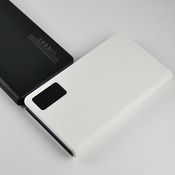 High capacity dermatoglyph LED display 10000mah power bank with duble USB port