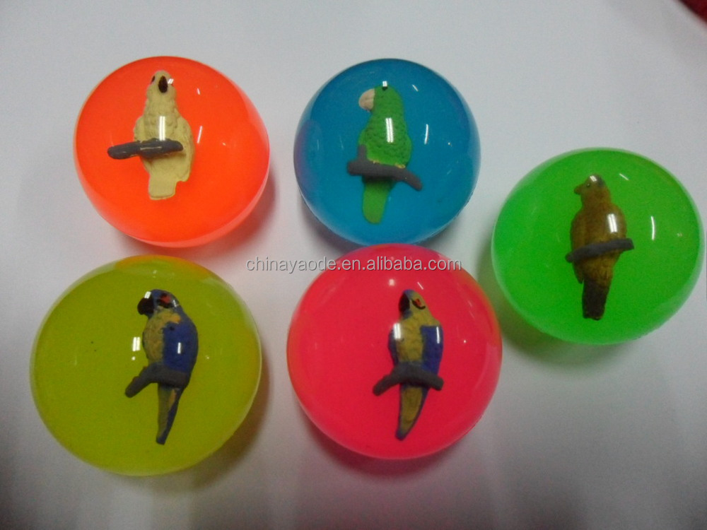 rubber 3D Animal Bouncing Balls(parrot)
