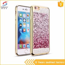 Electroplating frame diamond tpu for iphone6 case