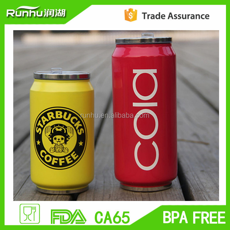 best-selling custom stainless steel cola can shape water bottles coke bottle RH504-500