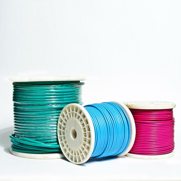 3 core electric copper wire, standard AWG wire , PVC insulated power cable