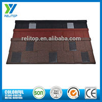 Flat steel plate stone coated galvalume roof tiles for villa
