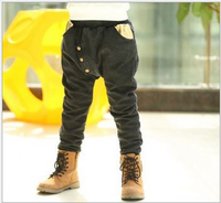 2015 autumn&spring splice pants button boy jeans golden wings fashion trousers Korean version child clothing wholesale