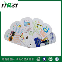 custom printed paper hand fan with wooden handle/ promotion gifts paper hand fan/ Paper hand Fan with wood handle