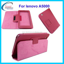 colorful tablet leather case for Lenovo A5000,leather cover case for lenovo A5000 7 inch tablet