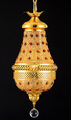Saudi Arabia crystal golden iron pendant lamp with crystal ball & English gold pendant light CR5201-1P