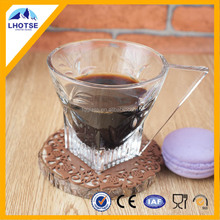 Hot Selling Glass Coffee Cup With Handle From Anhui Faqiang Glass Factory
