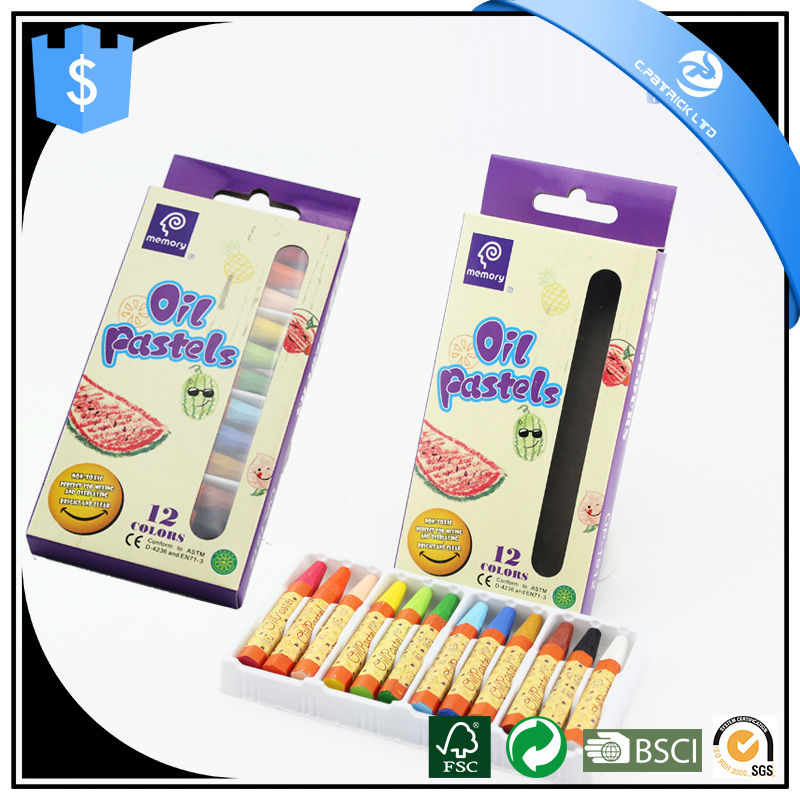 12 colors oil pastel for kids with oil pastel set wax crayon oil pastels