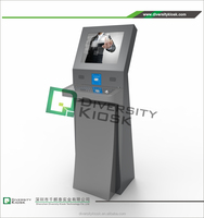 one multi touch screen terminal information kiosk professional subwoofer amplifier self service visitor kiosk