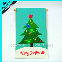 LED Musical Christmas Tree Mat light up tapestry