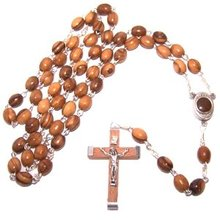 "Rosary with Holy Land earth - Soil - With Certificate of Authenticity (51 cm or 20"")"