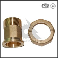 brass cnc machining water meter connector fittings, brass fittings